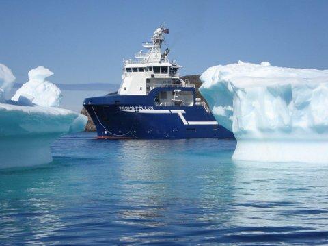 Supplybåten Troms Pollux, eies av Troms Offshore. Båten har vært på langtidskontrakt ved Goliat og vært en av selskapets stadig færre sikre inntektskilder.