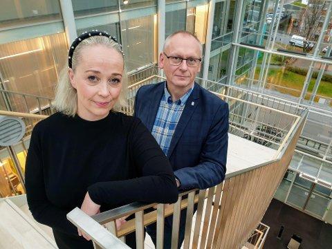 KOMMUNETOPPER: Mari Enoksen Hult og Oddgeir Albertsen.
