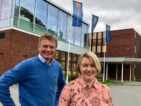 NY SJEF: Konsernsjef i Troms kraft Semming Semmingsen kunne i dag presentere den nye lederen for det sammenslåtte nettselskapet eid av TK og Bodø Energi. Eirin Kjølstad kommer fra jobben som adm.dir i Troms Kraft nett.