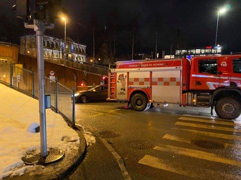 STENGT Tunnelløpene til og fra Polaria var stengt etter ulykke.n