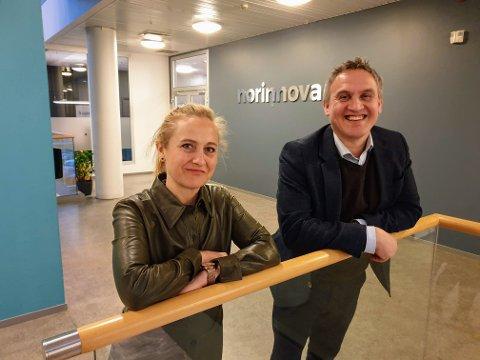 NYTT FOND: Norinnovas Therese Lein og Asbjørn Lilletun skal dele ut 12 millioner kroner til unge gründere de neste årene