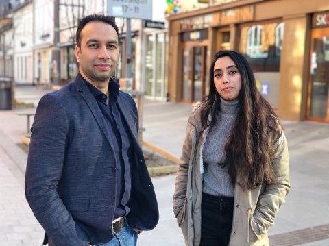 VASNKELIG: Bhupender Singh Tanwar fra India og Nazma Islam fra Bangladesh er to av 250 selvfinansierende internasjonale studenter i Tromsø som nå har det vanskelig.
