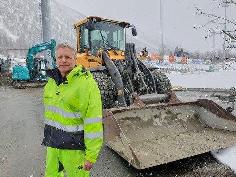 ENTREPRENØR: Jarle Johansen driver eget firma som jobber for kommunen.
