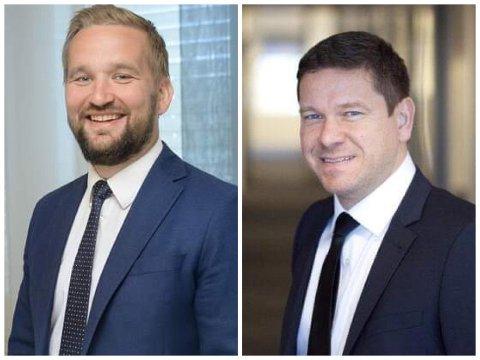 KLARE: Vilhelm Hoel (t.v) og Remi Selbakk skal styrke laget til KPMG.