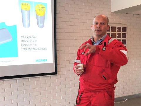 JOBBER MED LØSNINGER: Verfsdirektør for Aker Solutions Verdal, Erik Stiklestad, jobber med å finne løsninger for å slippe unna et stort antall permitterte.