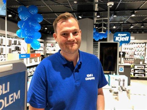NY JOBB: Kenneth Pettersen, er bosatt i Verdal, men skal pendle for  drive Trøndelags aller første butikketablering av Kjell & Company for duppedingselskere som han selv.