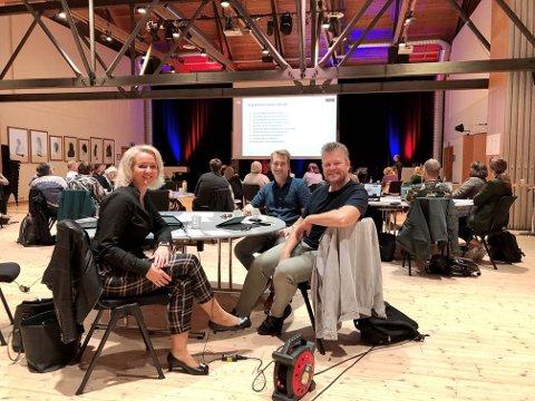 DIGITALT LØFT: Ingrid Dahl Furunes, Arild Klokkerhaug og Paal Stavrum samlet 45 bedrifter da næringslivet på Innherred fikk et digitalt kompetanseløft.
