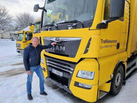 SPESIELT ÅR: For Stein Bjørnar Dahl har året som eier av Trafikksenteret Gule Biler ført med seg et par måneder med dårlig søvn. Nå er han spent på hva som venter i 2021.