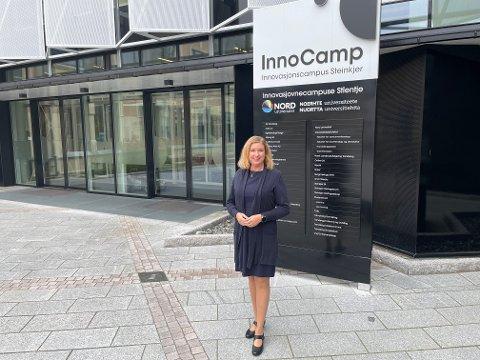 FLYTTER: Margrethe Markussen har bygd opp finanshuset Forte Fondsforvaltning i Trondheim. Nå gleder hun seg til nye utfordringer i Steinkjer.