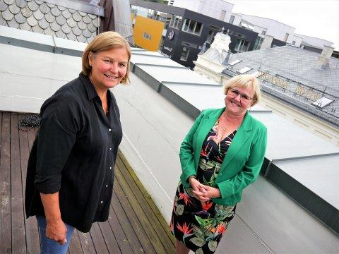 TAR GREP: Eileen Brandsegg (til venstre) og Berit Rian håper at Trondheim Opportunity kan være en døråpner for de som sliter med å få rett jobb i næringslivet.