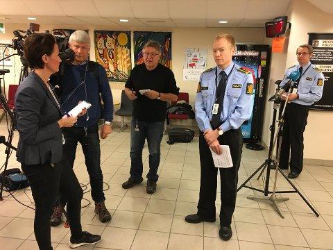 Politiet avholdt tirsdag ettermiddag pressekonferanse for å informere om pågripelsene.
