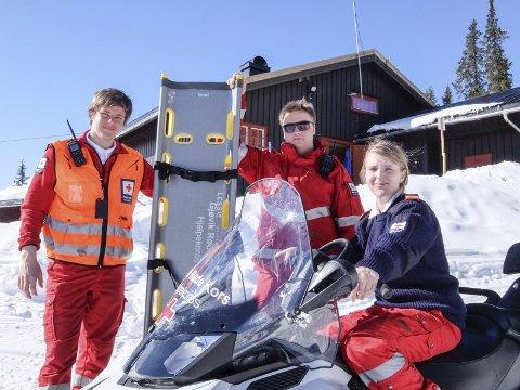 Sanitet: Beredskap i påskefjellet er bare en av mange aktiviteter for Gjøvik Røde Kors. Arkivbilde