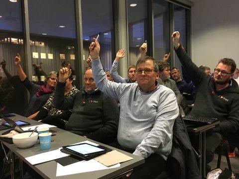KANDIDAT: Even Solhaug blir Aps ordførerkandidat. Her fra kommunestyret i Gjøvik