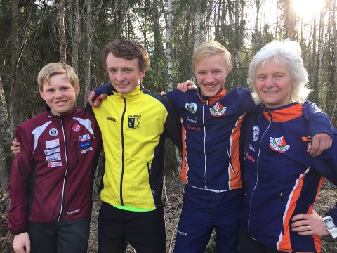 Gaute Radmann Espeseth, Simen Ballangrud, Jakob Mo og Vanja Staff er klare for VestMjøsa-cup.