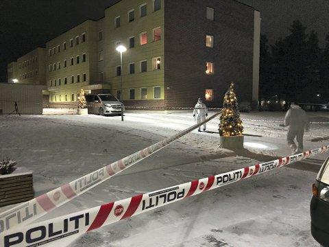 DRAP: Det var i dette borettslaget i Elverum det brutale drapet skjedde natt til 13. desember i fjor.