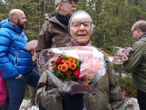 GLAD: Inger Johanne Moen er en av dem som ofte går tur langs Vinda
