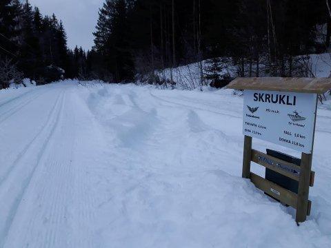 Det er oppkjørte dobbeltspor fra Eina til Hov. Her ved Skrukli stasjon i Søndre Land.