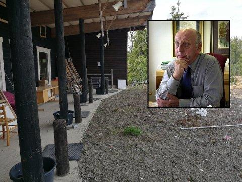 Pinsaften skjøt noen med gevær her klokka 22.25. Det reagerer blant andre hyttenabo Herbjørn Steinsvik på.