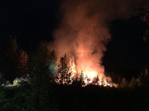 OVERTENT: En mann reddet seg ut da det begynte å brenne i hytta.