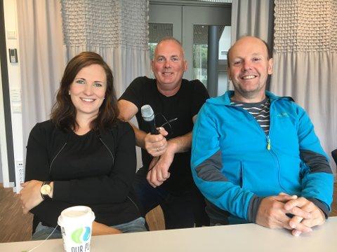Anne Ingeborg Sogn Øiom, Roger Ottosen og Morten Støen snakker om mange temaer innen skytesporten i OAs podkast fra Landsskytterstevnet.