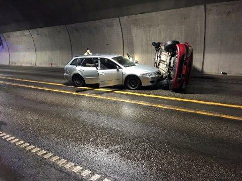 ØVER: Flere etater, ledet av Statens vegvesen, er opptatt av å gjennomføre realistiske øvelser i tunneler.