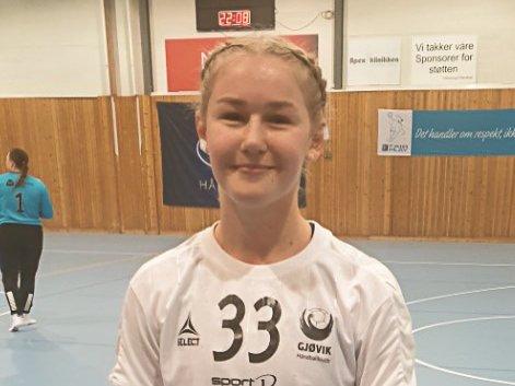 Mari Stensrud seriedebuterte for Gjøvik HK med å score sju mål mot Vålerenga.