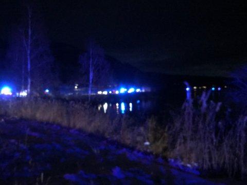 KOLLISJON: Det var i svingene sør for fergeleiet ulykken skjedde.