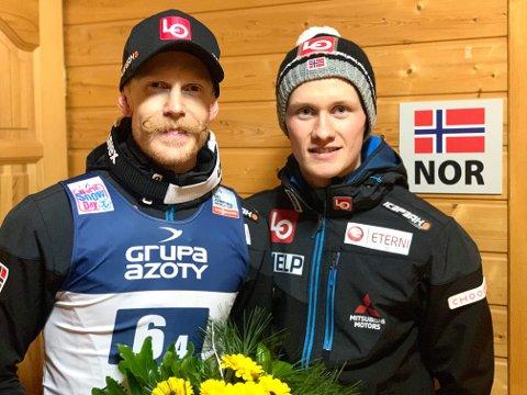 Roberg Johansson fra Lillehammer og Thomas Aasen Markeng fra Lensbygda gjorde sin del av jobben da Norge endte på andreplass i lagkonkurransen i Polen.
