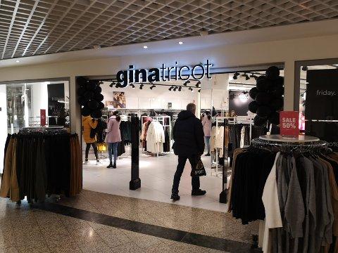 Rolig morgen for Gina Tricot, men det forventes flere kunder utover ettermiddagen.