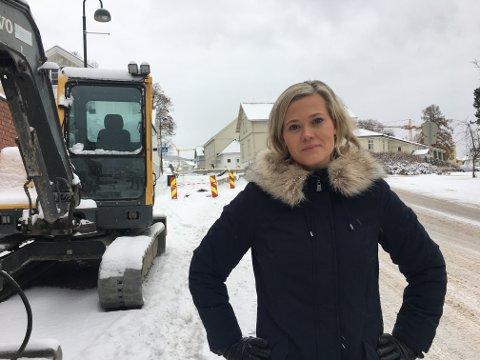 KRITIKK: Kjersti Bjørnstad (Sp), utvalgsleder i kultur og teknisk, tar på alvor kritikken som er kommet mot Gjøvik kommune og vegarbeidet i Hunnsvegen.