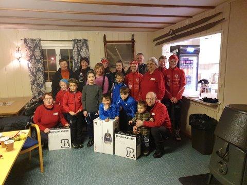 GOD STEMING PÅ SKIHYTTA: Skihytta Snarhaug fikk etterlengtede gaver av Nordre Land Røde Kors.