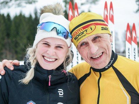 TRIVES PÅ SKI: Anne Marthe Brenden og far Øyvind Brenden er ivrige turløpere i skisporet, og begge gjorde det bra i skimaraton.