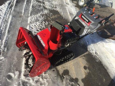 MED BELTER: Honda snøfresere med belter er svært ettertraktet.