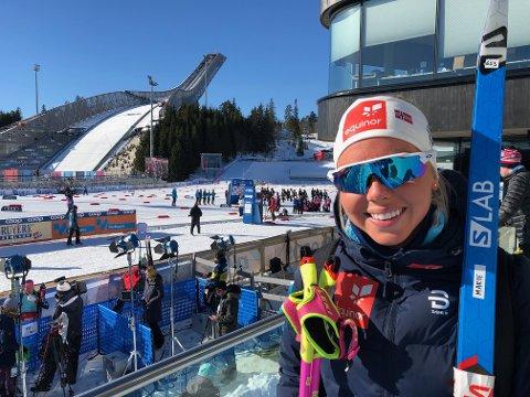 Marte Mæhlum Johansen var godt nøyd med 17. plass og karrierebeste i Holmenkollen.