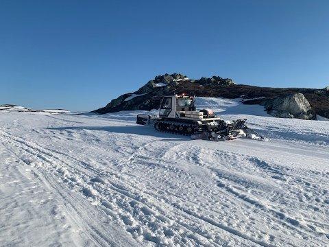 GODE FORHOLD: Til tross for sein påske kan løypekjørerne i Synnfjelløypene love gode forhold i fjellet.