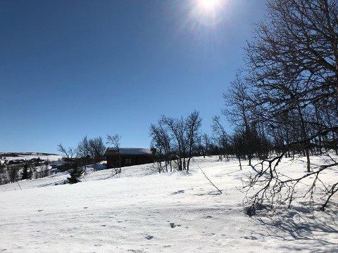 STRÅLENDE FORHOLD: Her Fra Syndin-områdeT i Vang kommune. Bildet er tatt i retning Beitostølen.