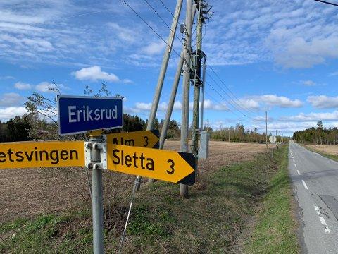 ERIKSRUD: Den omfattende leteaksjonen foregikk i områdene rundt Eriksrudtjernet.