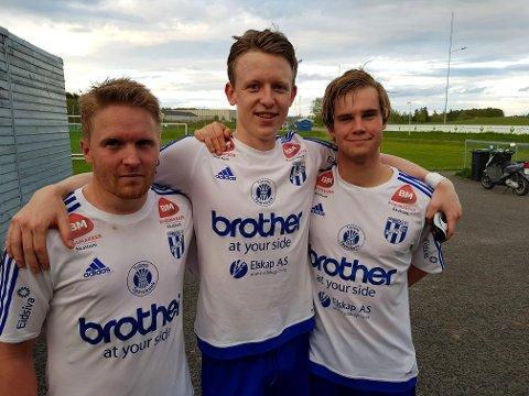 Alexander Unnli Hjelmtveit, Henrik Brodshaug Langaas og Jonas Strande scoret da Reinsvoll banket Ridabu.