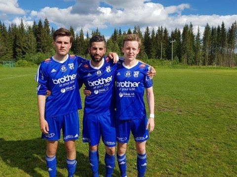 Hans Marius Drager, Gultekin Guven og Henrik Langaas spilte meget godt for Reinsvoll.