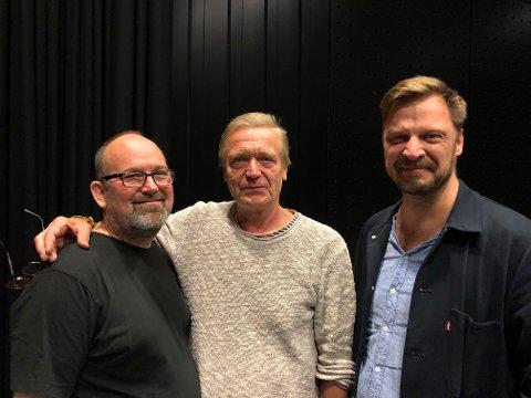 WORKSHOP: Lars Erik Holter (f.v), Terje Strømdal og påtroppende sjef for Teater Innlandet Thorleif Linhave Bamle er alle instruktører på workshopen.