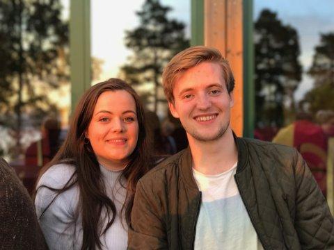SAMMEN PÅ UTØYA: Søsknene Ingrid Marie og Jan Halvor Vaag Endrerud skulle begge ha vært på Utøya 22. juli 2011, men Jan Halvor ble syk og måtte bli hjemme. Her er de to avbildet på Utøya i 2017.