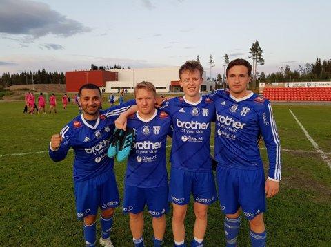 Helo Baram, Alexander Hjelmtvedt, Henrik Langaas og Eirik Wangen scoret Reinsvolls mål mot Domkirkeodden.