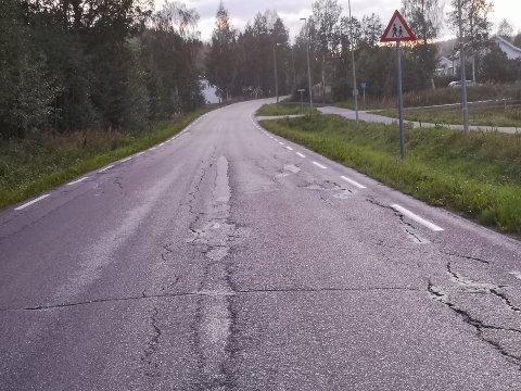 TILTAK: Statens vegvesen har gjennomført oppmerking av Odnesvegen. Det får Håkon Lien til å reagere.