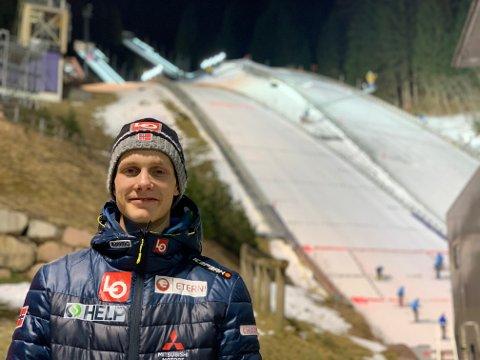 Andreas Granerud Buskum tok sine første verdenscuppoeng i Val di Fiemme lørdag.