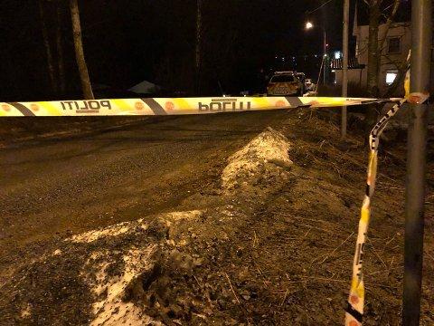 STORE STYRKER: Store politistyrker rykket ut til åstedet og startet drapsetterforskning fredag kveld.