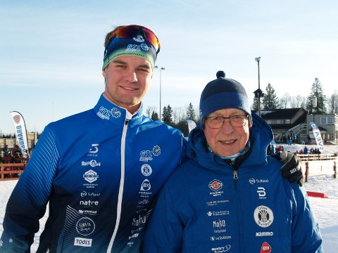 UADSKILLELIGE: Bendik Lae Steinsrud og morfar Sven Lae er uadskillelige innen langrennssporten.