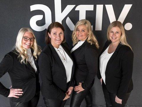 PARTNERE: Margrethe Helseth (t.v.), Kristine Kvame, Henriette Stray Fischer og Vera Adolfsen skal ha drømt om å starte meglerkontor sammen. Nå er det en realitet.