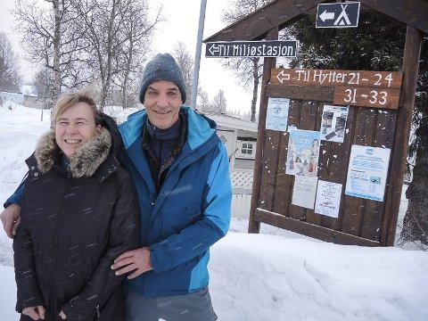NYE EIERE: Siv Lindeland Thorbjørnsen og  Bengt Egil Thorbjørnsen har kjøpt Beitostølen Camping.