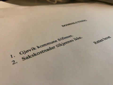 NYTT FORSØK: Ei kvinne, som var i barneskolealder da Gjøvik kommune overtok omsorgen for henne, har saksøkt kommunen. Ankesaken skal behandles i Eidsivating lagmannsrett i januar.