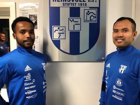 MÅ VENTE: Nykommerne Feisal Ahmed (t.v) og Narongdet Solbakken må vente med å få sin debut i Reinsvoll-drakta enda et par måneder.